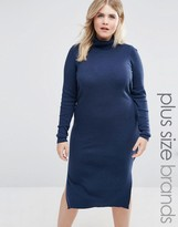 Junarose Roll Neck Knitted Dress