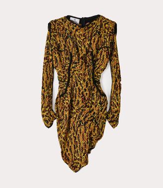 Vivienne Westwood Twisted Wilma Dress Acid Animal Print