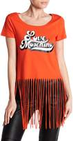 Love Moschino Logo Fringe T-Shirt