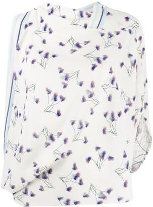 Roland Mouret Hopkins floral print draped blouse