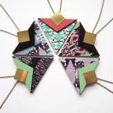 Mica Peet Statement Geometric Triangle Necklace