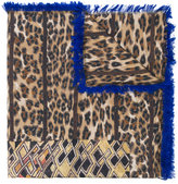 Pierre Louis Mascia Pierre-Louis Mascia animal print frayed scarf