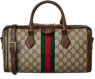 Gucci Ophidia Medium Gg Supreme Canvas & Leather Top Handle Bag