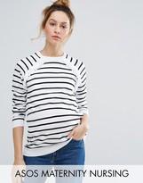 Asos NURSING Stripe Double Layer Sweater