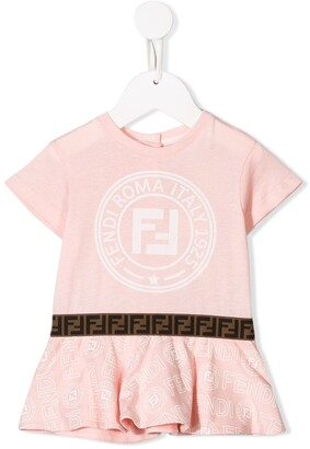 Fendi logo print T-shirt dress