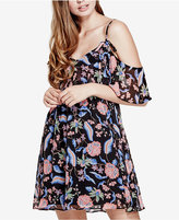 GUESS Jazmin Cold-Shoulder Flounce Dress