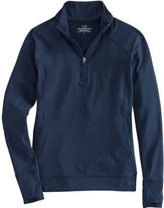 Vineyard Vines Women's Pullover Sweaters 0410 - Vineyard Navy Performance Quarter-Zip Pullover - Women