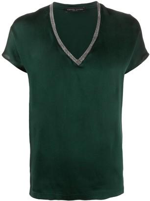 Fabiana Filippi monili embellished silk T-shirt