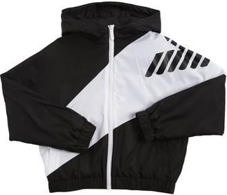 Emporio Armani Logo Print Nylon Light Padded Jacket
