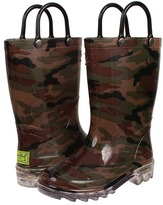Western Chief Lighted PVC Camo Boys Shoes