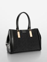 Calvin Klein Brynn Suede Logo City Carryall Bag