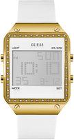 GUESS Women's Digital White Silicone Strap Watch 55x38mm U0700L1
