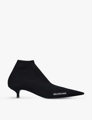 Balenciaga Knife pointed-toe stretch-knit boots