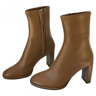 The Row Brown Leather Ankle boots