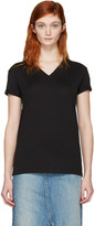Alexander Wang Black V-Neck T-Shirt