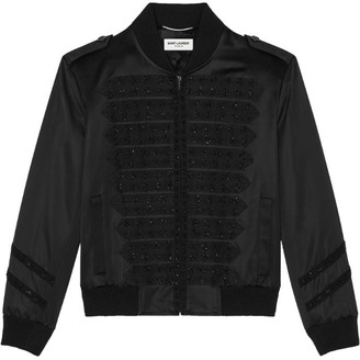 Saint Laurent Embroidered Bomber Jacket