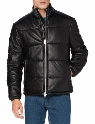 Armani Exchange Men's Blouson Leather Jacket