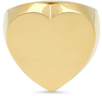 Established Jewelry 14k Gold Flat Heart Ring, Size 7