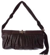 Lanvin Pleated & Embossed Leather Shoulder Bag