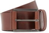 HUGO BOSS 4cm Brown Sian Leather Belt