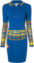 Moschino bejewelled print hoodie dress - women - Cotton/Other fibres - 38