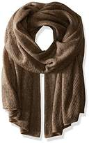 Steve Madden Women's solid Lightweight Super Soft Knit Blanket Wrap