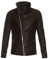 Rick Owens Funnel-neck Leather Jacket