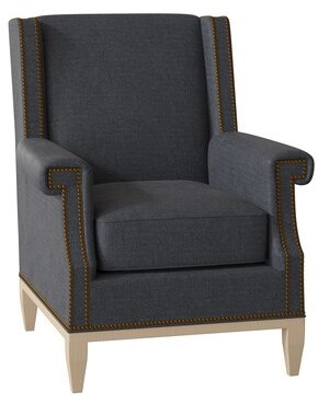 Hekman Randall Armchair Body Fabric: 1002-051, Leg Color: Antique Vanilla, Nailhead Detail: Brass, Seat Cushion Fill: Extra Firm