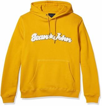 Sean John Men's Patch Pull Over Hoodie Sweatshirt