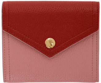 Miu Miu Pink and Red Small Envelope Wallet