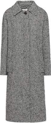 Masscob Abbott Houndstooth Wool-blend Boucle-tweed Coat