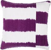 Madeline Weinrib Striped Ikat Pillow-PURPLE