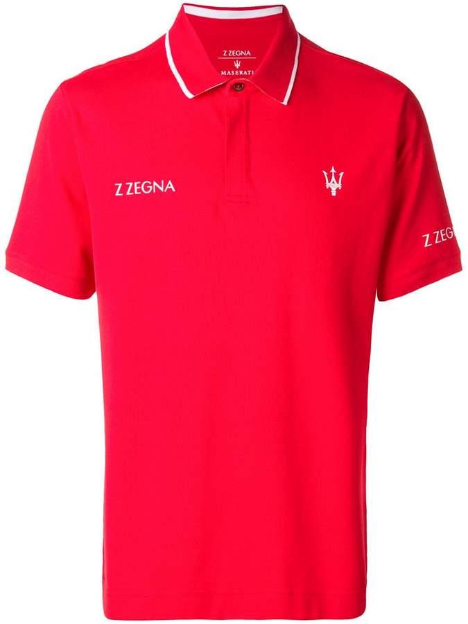 Ermenegildo Zegna X MASERATI mock polo shirt