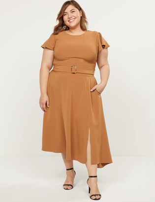 Lane Bryant Lena Dress With Tortoise-Print Belt-Buckle