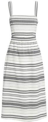 Joie Knotted Striped Cotton Midi Dress