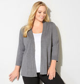 Avenue Heathered Button Cuff Cardigan