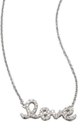 Sydney Evan Love Diamond & 14K White Gold Small Pendant Necklace