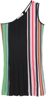 Diane von Furstenberg One-shoulder Striped Stretch-knit Mini Dress