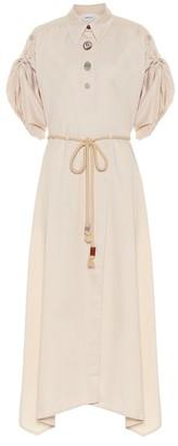 Nanushka Hanna cotton midi dress
