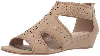 Easy Street Shoes Women's Thelma Dress Casual al with Back Zipper Wedge