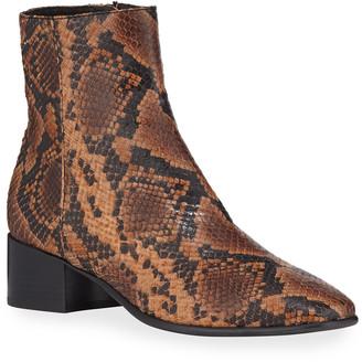 Rag & Bone Aslen Mid-Top Snake-Print Boots