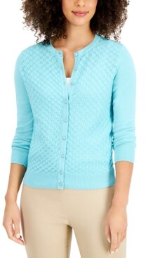 Charter Club Peacock-Stitch Cardigan, Created for Macy's