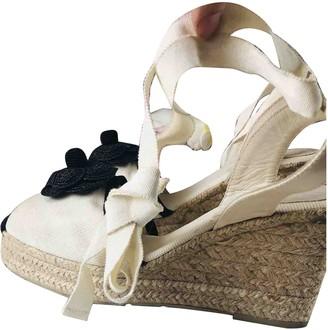 Chanel Ecru Cloth Espadrilles