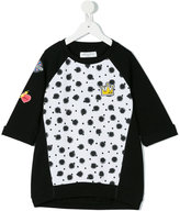 John Galliano spot print patch sweatshirt - kids - Cotton/Spandex/Elastane - 8 yrs