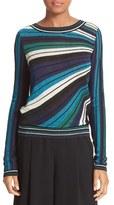 Diane von Furstenberg Women's Joletta Sparkle Stripe Knit Sweater