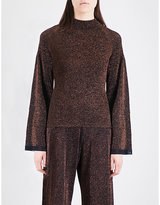 Pringle Ladies Knitted Wide-Sleeved Lurex Jumper
