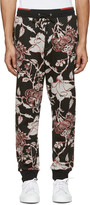 McQ by Alexander McQueen Black Floral Lounge Pants