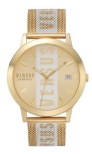 Versus By Versace Versus Men's Barbes Gold Mesh Bracelet Watch 44mm