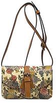 Patricia Nash Denim Fields Collection Torri Floral Mini Cross-Body Bag