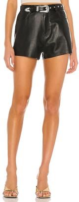 GRLFRND Westley Leather Shorts